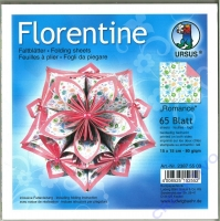 Florentine Faltblätter Romance 15x15cm 65 Blatt green/pink