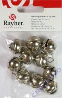 Rayher Metallglöckchen kugelförmig 19mm platin 10 Stück