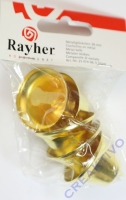 Rayher Metallglöckchen gold 38 mm 5 Stück
