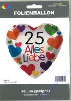 Folienballon 25 - Alles Liebe
