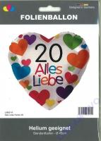 Folienballon 20 - Alles Liebe