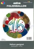 Folienballon 16 Glitzer