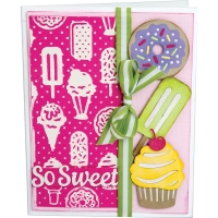 Sizzix Thinlits W/Textured Impressions By Courtney Chilson - Sweet Treats