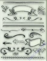 Silikon-Stempel Lettering Elements