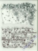 Silikon-Stempel Weihnachtssterne + Merry Christmas