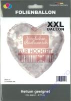 Folienballon Herzliche Glückwünsche zur Hochzeit 71cm