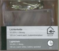 LED-Lichterkette 10 LED 1 Strang