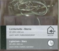 LED-Lichterkette Sterne 20 LED 1 Strang