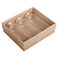 3 x Glas-Gefäß mit Kork-Dckel, 20ml