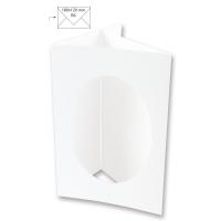 Passepartout-Karte B6 oval weiß (Restbestand)