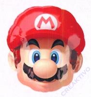 Folienballon Super Mario Kopf
