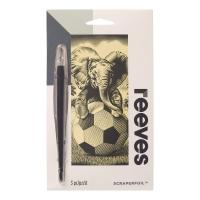 Scraperfoil Kratzfolie Elefantenbaby mit Fußball 11x18cm