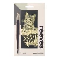 Scraperfoil Kratzfolie Katze 11x18cm