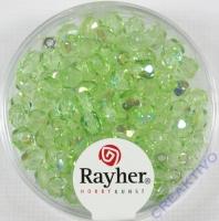 Glas-Schliffperlen, 4 mm ø irisierend jaspis