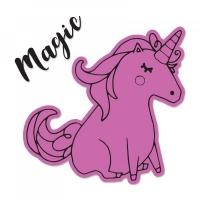 Sizzix Framelits Die Set 1PK w/Stamps - Unicorn #2