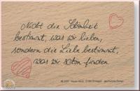 Poesie-Stempel Spruch Liebe 1 (Restbestand)
