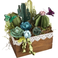 Sizzix Thinlits 2D & 3D Succulents