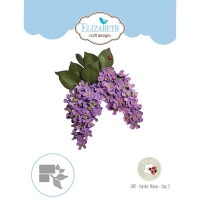 Elizabeth Craft Metal Die By Susans Garden Club - Garden Notes-Lilac 2