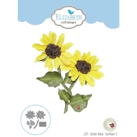 Elizabeth Craft Metal Die By Susans Garden Club - Garden Notes-Sunflower 2