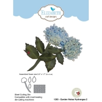 Elizabeth Craft Metal Die By Susans Garden Club - Garden Notes-Hydrangea 2 3.5X1.7