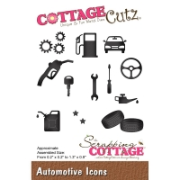 CottageCutz Die - Automotive Icons .2 To 1.3