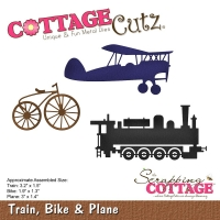 CottageCutz Die - Train, Bike & Plane 1.3 To 3.2