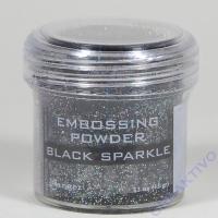Ranger Embossing Puder black sparkle