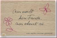 Poesie-Stempel Spruch Freunde (Restbestand)