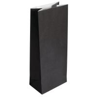 Papier-Blockbodenbeutel schwarz 25 Stück