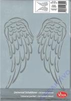 Universal-Schablone Engelsflügel