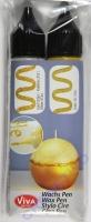 Wachs-Pen 2er Set gold / gold-glitter