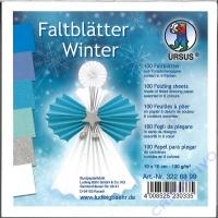 Faltblätter Winter 10cm x 10cm