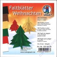 Faltblätter Weihnachten 10cm x 10cm