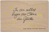 Poesie-Stempel Spruch Sterne (Restbestand)