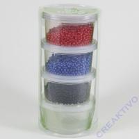 Pearl Clay®, 3x25 g, 38 g, rot, blau, schwarz