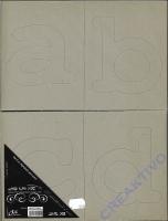 Die-Cut Alphabet lower case Graupappe (Restbestand)