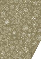 Karton 50 x 70cm Kristalle gold