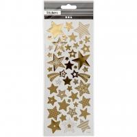 Sticker mit Sternen gold