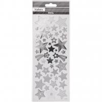 Sticker mit Sternen silber