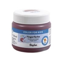 Fingerfarbe erdbraun
