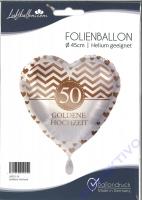 Folienballon 50 Goldene Hochzeit