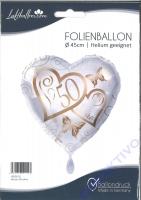 Folienballon Herzen 50 Jahre