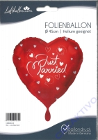 Folienballon Rot - Just Married