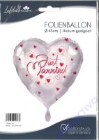Folienballon Weiss - Just Married
