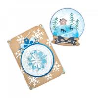 Sizzix Thinlits Die Set 6PK - Christmas Ornament Flip and Fold