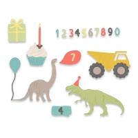 Sizzix Thinlits Die Set 15PK - Birthday Boy