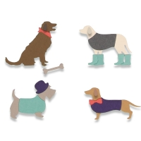 Sizzix Thinlits Die Set 10PK - Country Canines