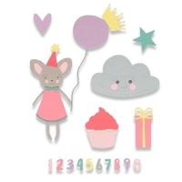 Sizzix Thinlits Die Set 17PK - Birthday Girl