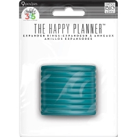 The Happy Planner - Expander Rings 9 pcs. teal
