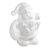 Styropor Weihnachtsmann mit Bär
